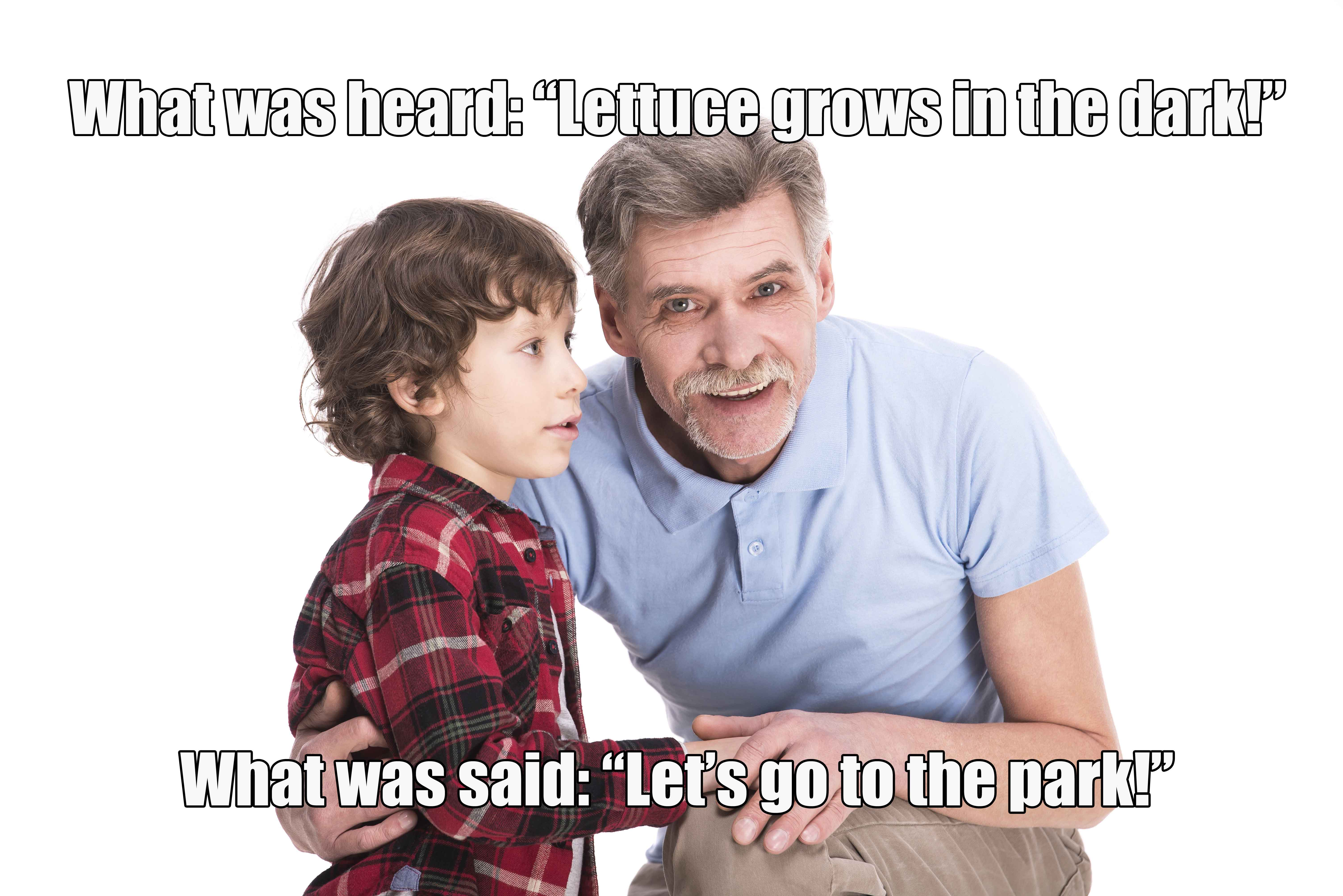 misunderstanding due to hearing loss in family
