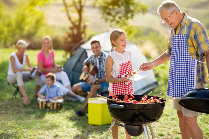 family BBQ outdoor