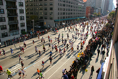 Can you see us? Hint: we're still at the starting line.