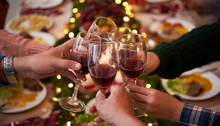 Raise a glass to holiday parties!