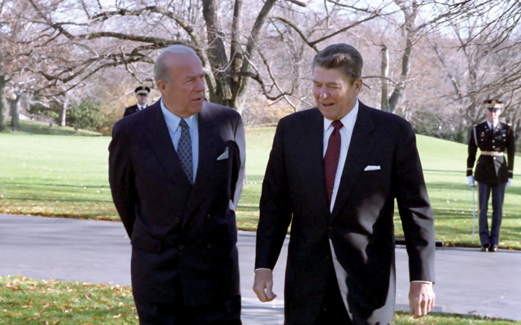 George Shultz & Ronald Reagan